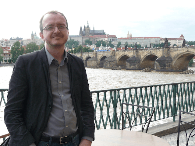 A. J. Musgrove on Prague Bridge, Czech Republic